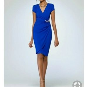 👗CACHE FAUX WRAP DRESS👗